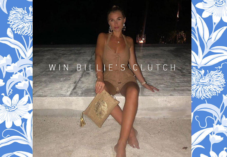 Do you want to win Billie's beach clutch?
