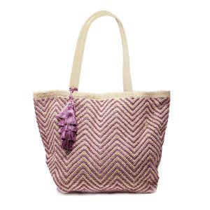 Mykonos Metallic Tote Bag Pink