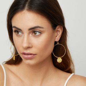 Dominique Large Hoop Earrings Gold