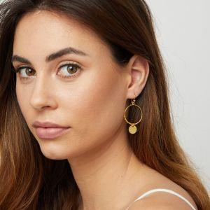 Dominique Mini Hoop Earrings Gold