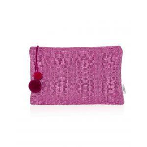 Ashiana Magenta Pink Pom Pom Waterproof Clutch