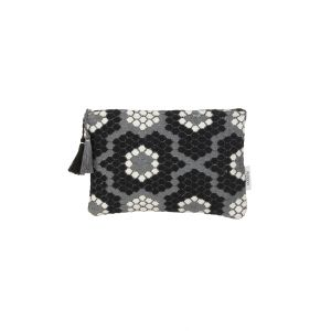Mini Miami Pouch Black & White Honeycomb