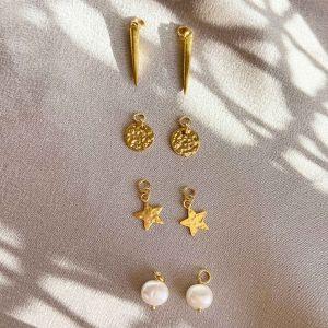 Bowie interchangeable gold charm set