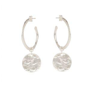 Esmeralda Hoop and Coin Earrings in Silver