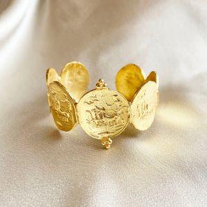 Apollo Greek Coin Cuff