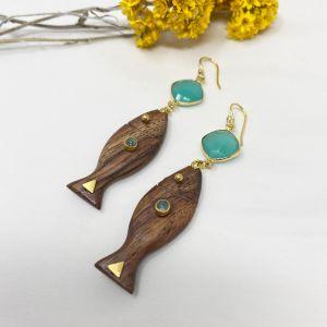 Aquarium Earrings Aqua