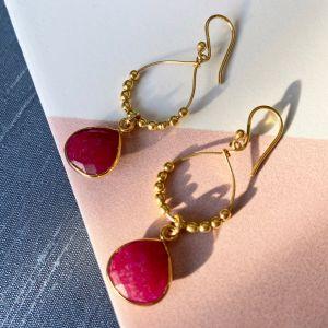 Bay Reef Earrings Red Agate
