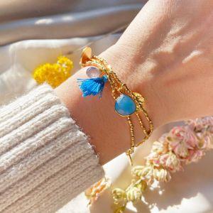 Gemini Bracelet Blue Jade
