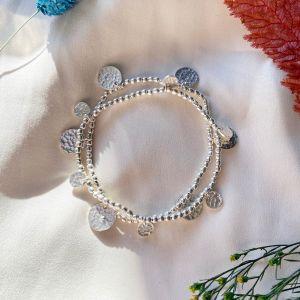 silver coin friendship bracelet