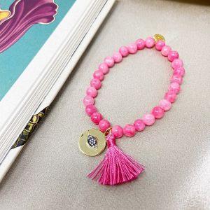 Magic Eye Coin Bracelet Pink