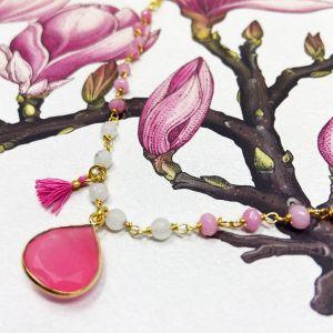 Portia Gemstone Bracelet Pink