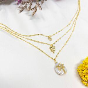Palma Necklace White