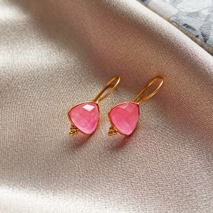 Lola Earrings Pink Jade