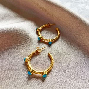 Mini Cruise Earrings Turquoise