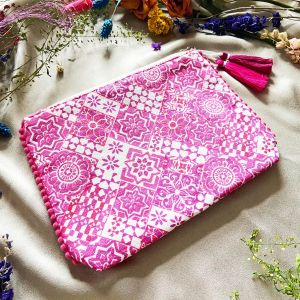 Barcelona travel pouch Pink