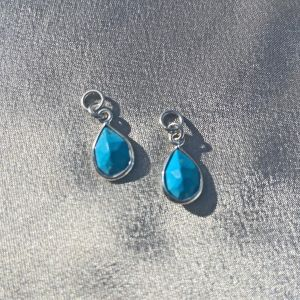 Division Turquoise Charm Pair - Silver