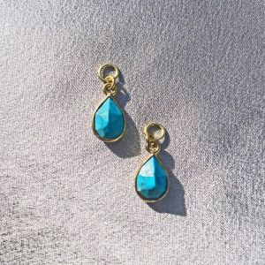 Division Turquoise Charm Pair - Gold