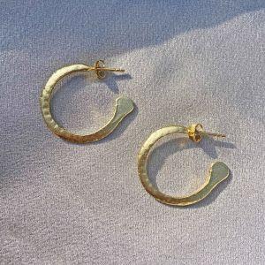 Bowie Medium Gold Hoop Earrings