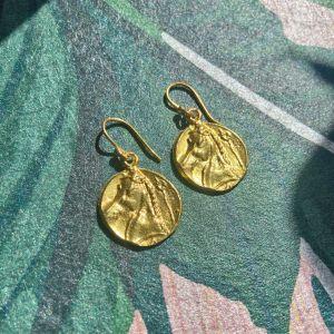 Pegasus Coin Earrings