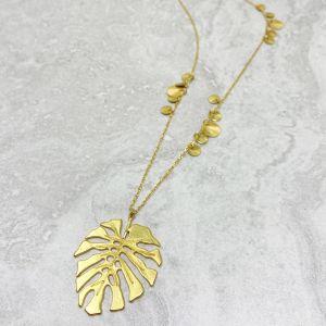 Adriana Monstera Leaf Necklace