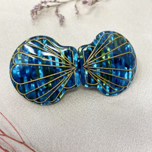 Siren Hair clip in Iridescent Blue