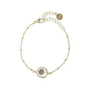 Juno Bracelet White Circle
