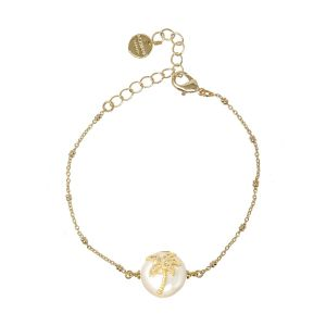 Delos Charm Bracelet - Palm Tree
