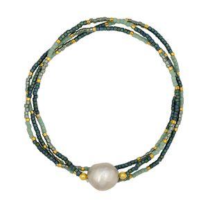 Marais Bracelet Green & Grey