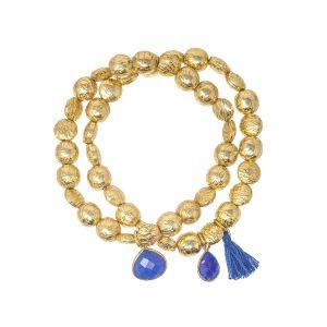 Goa Bracelet Denim Blue Jade