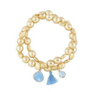 Goa Bracelet Blue Jade