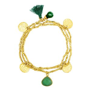 Gemini Bracelet Green Onyx