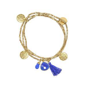Gemini Bracelet Denim Blue Jade