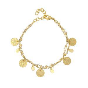 Athens Gold Coin Bracelet