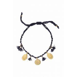 Mardi Gras Festival Bracelet in Navy