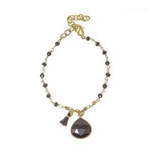 Portia Gemstone Bracelet black onyx