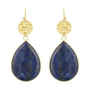 Mimosa Earrings in Navy Lapis Lazuli