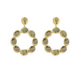 Wanda Hoop Earrings Labradorite