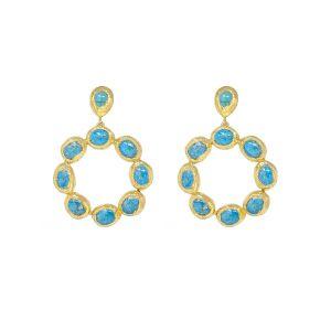 Wanda Hoop Earrings Turquoise