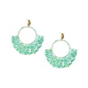 Zoanna Earrings Aqua