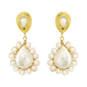 Beatrice Earrings White