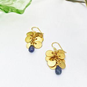 Winona Earrings Navy Iolite