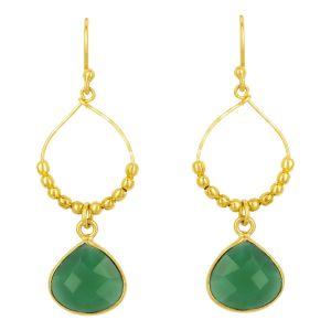 Bay Reef Earrings Green Onyx
