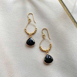 Bay Reef Earrings Black Onyx