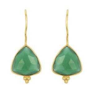 Lola Earrings Green Onyx