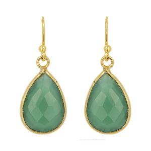 Ava Earrings Green Onyx