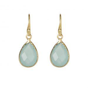 chalcedony teardrop earrings