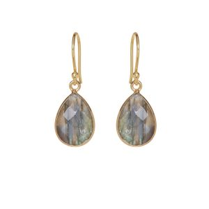 Ava Labradorite Gemstone Drop Earrings