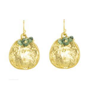Solange Earrings Dark Green