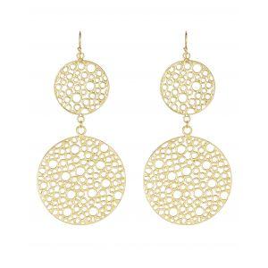 Double Bubble Earrings Gold