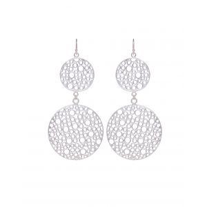 Double Bubble Earrings Silver